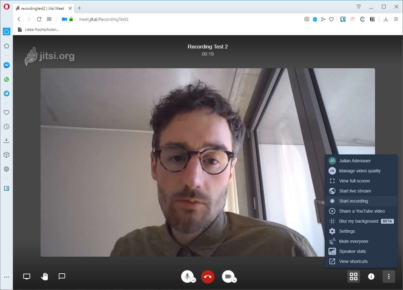 How to record a jitsi meeting
